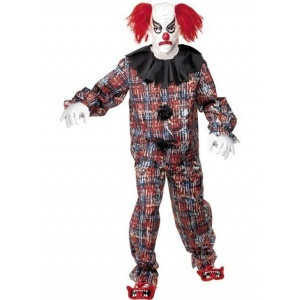 Skrämmande clown maskeraddräkt