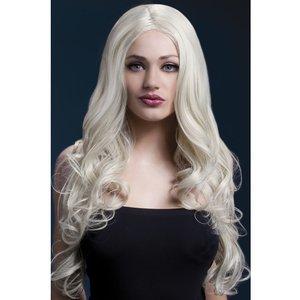 Peruk Rhianne lång lockig - blond