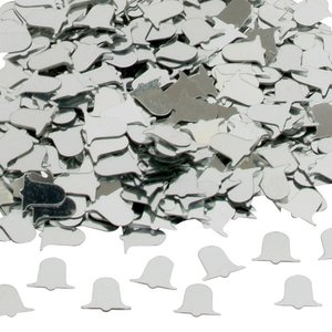 Bordskonfetti Bröllopsklockor silver - 14 g