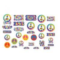 60-tals hippie pappfigurer - 30 st