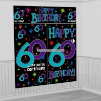 Dekorbakgrund till 60-årsdagen - The party continues
