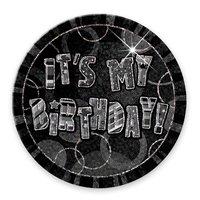 Svart födelsedagsknapp