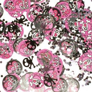 Pirat rosa bordskonfetti - 28 g