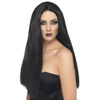 Häxa peruk lång svart