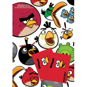 Angry Birds presentpapper & etiketter