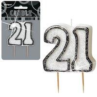 21-års födelsedag födelsedagsljus - svart