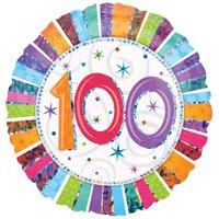 Rund folieballong flerfärgad för 100-årsdagen - 46 cm folie