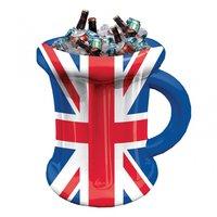 Uppblåsbar mugg dryckeskylare - Storbritanniens flagga 45cm