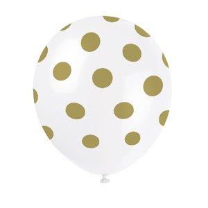 Prickiga ballonger - Guldiga 6 st