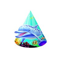 Ocean Party - konformade partyhattar i papper - 8 st