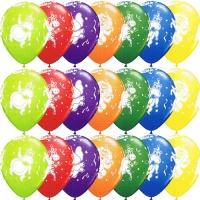 Ballonger med festande djur - 28 cm latex - 25 st