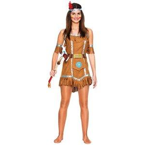 Indianflicka maskeraddräkt