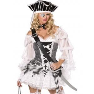 Pirat maskeraddräkt 5-delad