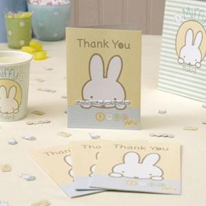 Baby Miffy tackkort - 10 st