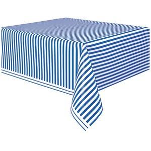 Randig bordsduk - Blå &amp  vit