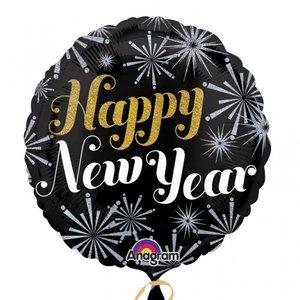 Folieballong - Happy New Year 45 cm