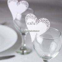 Placeringskort för glas - 10 st (vita hjärtan)