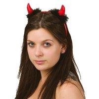 Djävulshorn med svart hår