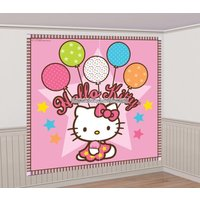 Hello kitty dekorbakgrund med add-ons