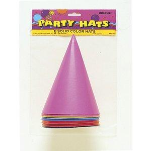 Blandade konformade partyhattar i blandade färger - 8 st