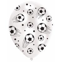 Ballonger med fotbollstryck - 28 cm latex - 6 st