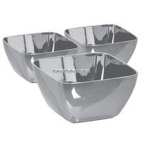 Små djupa plasttallrikar - silver 71 ml - 30 st