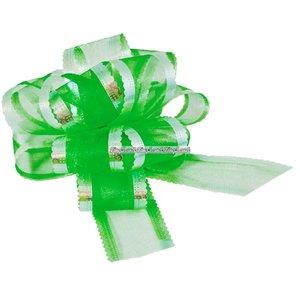 Organza dragrosett - grön