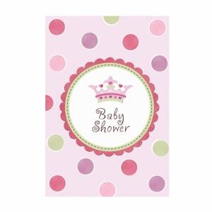 Baby girl inbjudningskort - 8 st