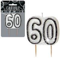 60-års födelsedagsljus - svart