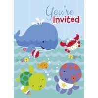 Inbjudningar - Under the sea 8 st