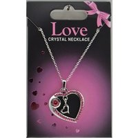 Halsband med hjärta - Rosa