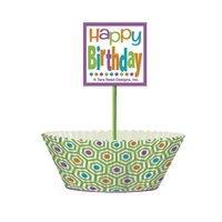 Cupcake kit - Citrus dot birthday 24 st