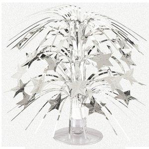 Silverfärgad minikaskad med stjärnor - bordsdekoration
