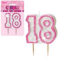18-års födelsedagsljus - rosa