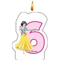 Disney prinsessa & djur - födelsedagsljus till 6-årsdagen
