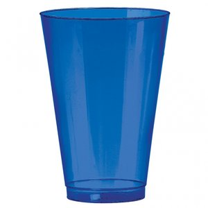 Blå dricksglas i plast - 414 ml - 36 st