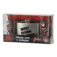 Plunta med glas - Merry fucking christmas