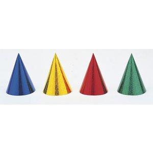 Färgglada konformade partyhattar - 8 st