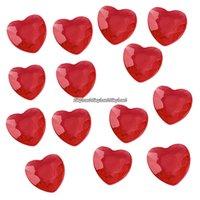 Röda bordsdiamanter - hjärtan - 21 g