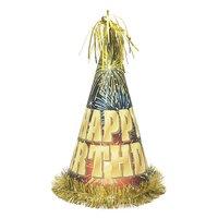 Jumbo partyhatt - Happy birthday fyrverkerier
