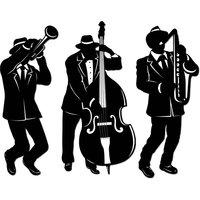 Jazz trio siluetter - 3 st