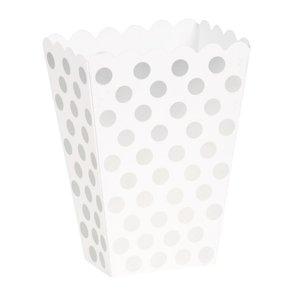 Silvriga prickiga popcornbägare - 8 st