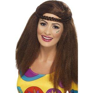 Hippiebrud peruk med lång Afro