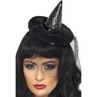 Häxa hatt mini - Svart