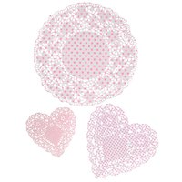 Små bordsdukar - rosa partyblandning - 30 st