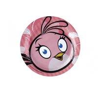 Angry birds rosa tallrikar - 23cm papperstallrikar - 8 st