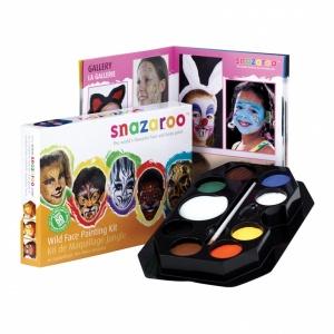 Snazaroo ansiktsmålningssats - djur- 50 ansikten