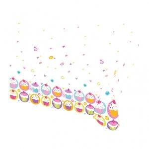 Cupcake bordsduk till festen - i plast