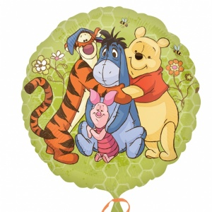 Folieballong - Puh &amp  hans vänner 45 cm