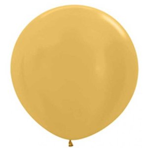Jätteballong - Guld 80 cm